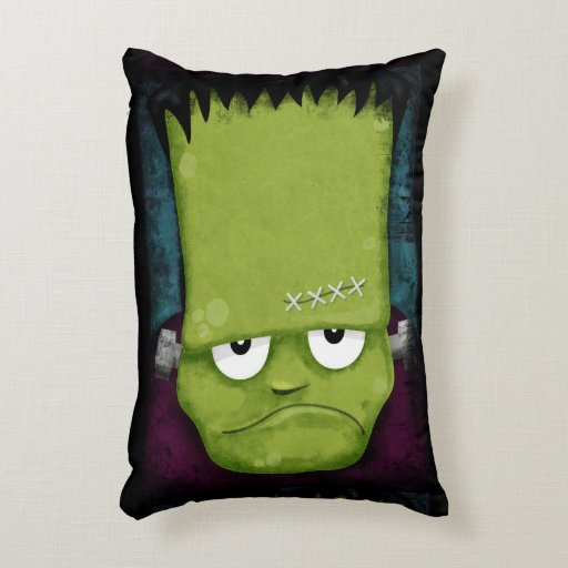 Grumpy Frankenstein S Monster Halloween Accent Pillow Zazzle