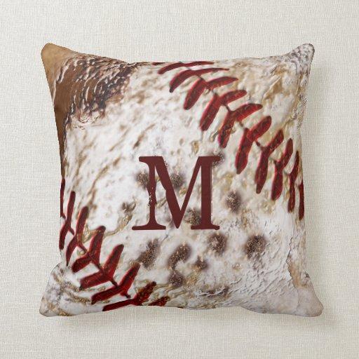 Grunge Monogrammed Dirty Baseball Pillow Zazzle