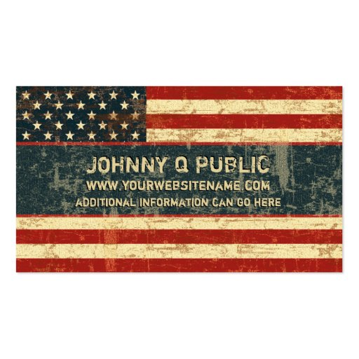 Grungy American Flag Business Card Zazzle