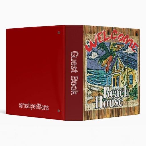 The Beach House Book: Guest Book - Beach House Notebook Binder
