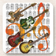 cork coasters gifts for musicians and music lovers. Black Bedroom Furniture Sets. Home Design Ideas