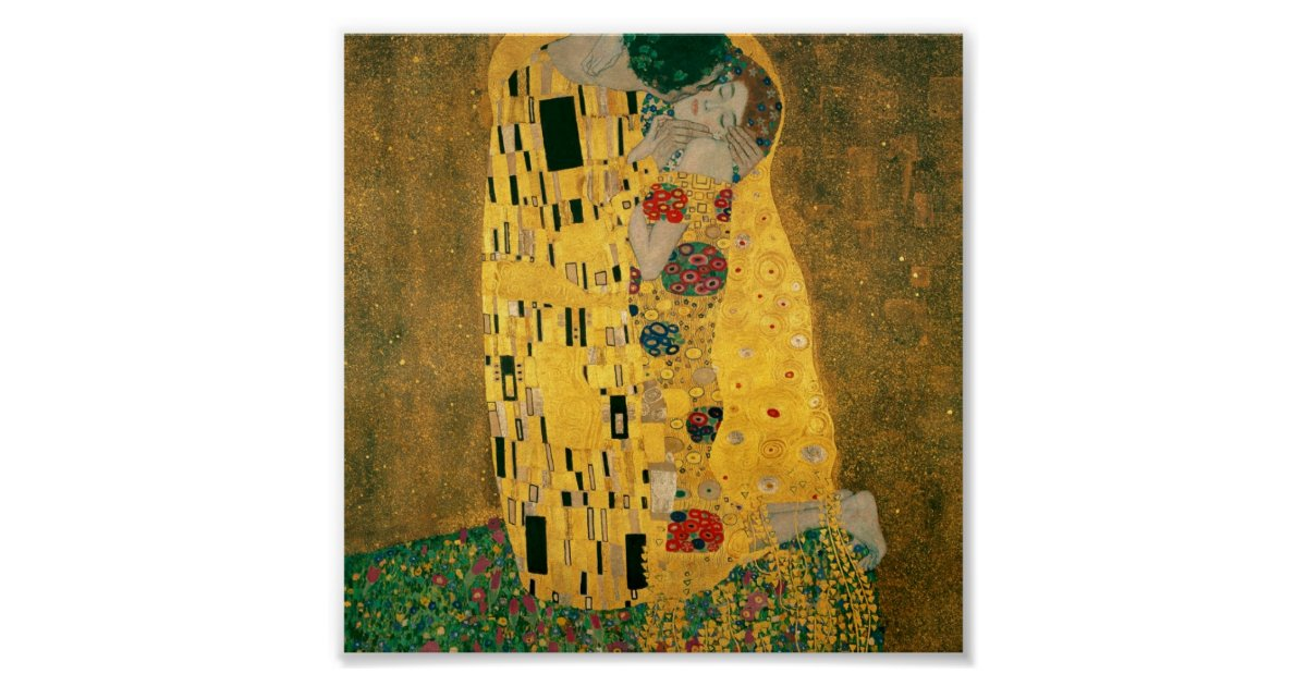 gustav klimt the kiss der kuss poster zazzle. Black Bedroom Furniture Sets. Home Design Ideas