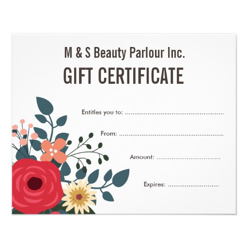 free beauty gift voucher template - hair beauty salon gift certificate template flyer zazzle