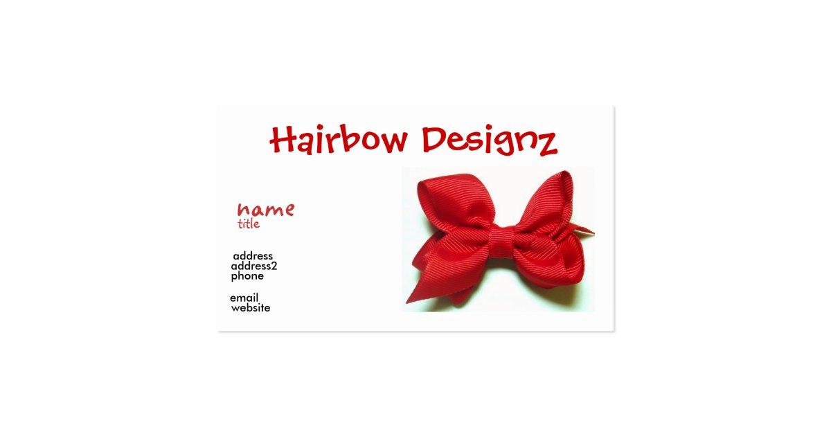 Hair Bow Business Card Zazzle