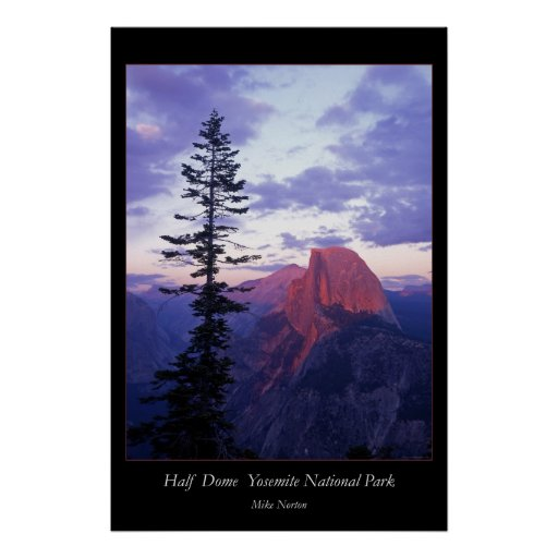 Yosemite National Park Travel Poster Half Dome: Half Dome Yosemite National Park Poster
