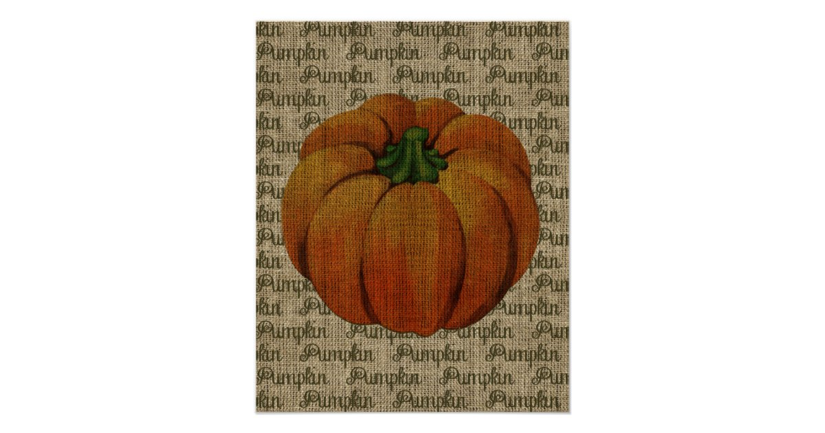 Halloween & Fall Vintage Pumpkin Poster Art | Zazzle