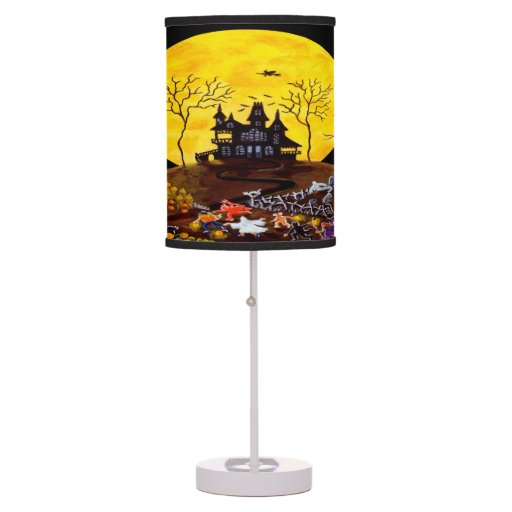"Halloween Haunted Town Table Lamp""Keep Running"" Table Lamp"