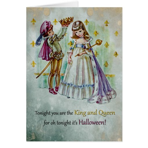 Halloween Queen And King - Children Greeting Card