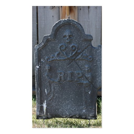 Halloween Tombstone RIP Skull Double-Sided Standard Business Cards ...