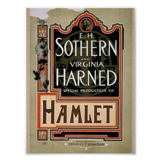 Hamlet Vintage Theater Poster | Zazzle