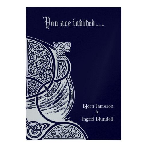 "Handfasting Invitation: Handfasting Invitation 5"" X 7"" Invitation Card"