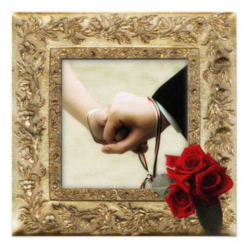 Handfasting Invitation: Handfasting 5.25x5.25 Square Paper Invitation Card