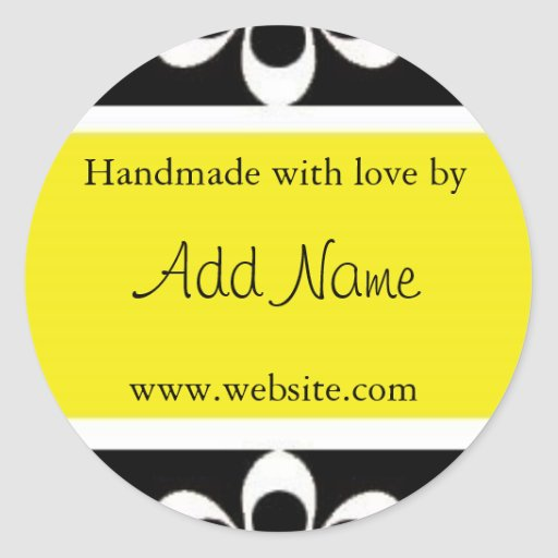 """Handmade with Love"" Sticker 
