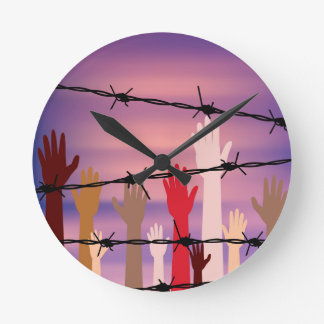 Barbed Wire Wall Clocks Zazzle