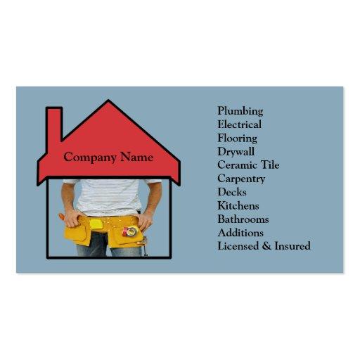 Home Improvement Business Card Ideas
