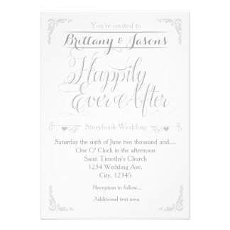 214+ Happily Ever After Wedding Invitations, Happily Ever ...  214+ Happily Ev...