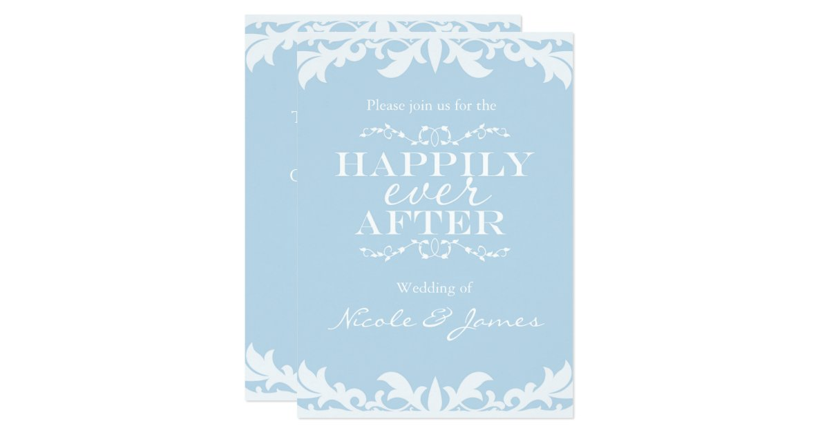 HAPPILY EVER AFTER Storybook Wedding Invitation | Zazzle  HAPPILY EVER AF...