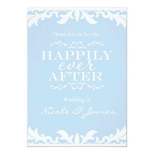 After The Wedding Invitations: HAPPILY EVER AFTER Storybook Wedding Invitation