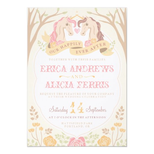 Happily Ever After Unicorn Wedding Invitation | Zazzle  Happily Ever Af...