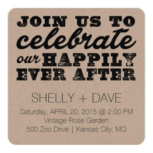 After Party Wedding Invitations: Happily Ever After Wedding Invitation