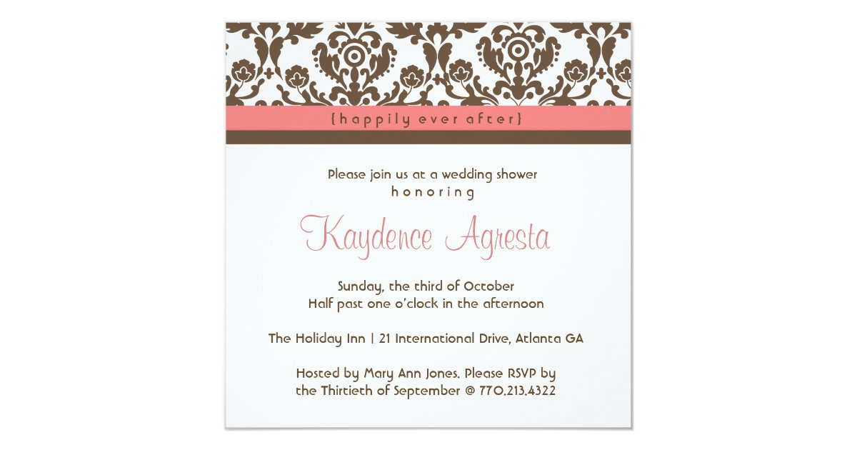 After Wedding Invitation Wording: Happily Ever After Wedding Shower Invitation