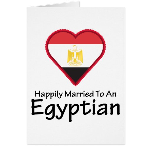 Happily Married Egyptian Greeting Cards | Zazzle