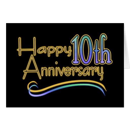 Happy 10th Anniversary Greeting Card