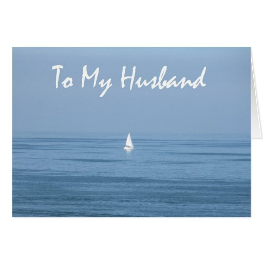 10th Wedding Anniversary Quotes For Husband: Happy 10th Anniversary Husband - Sailboat Card