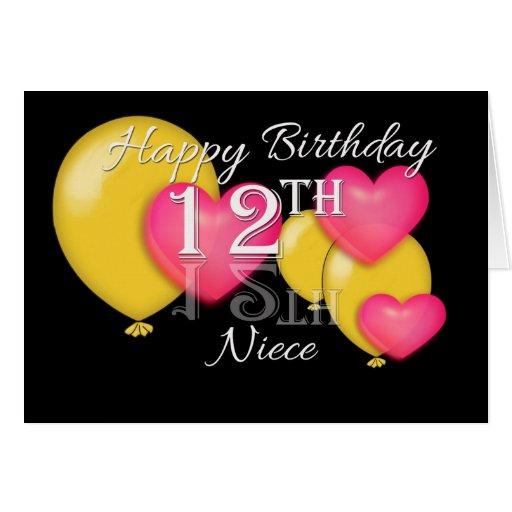 Happy 12th Birthday Niece Greeting Card