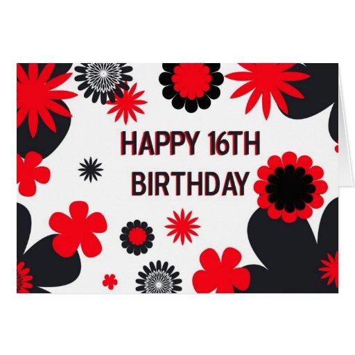 16th Birthday Haul Blog: Happy 16th Birthday Card