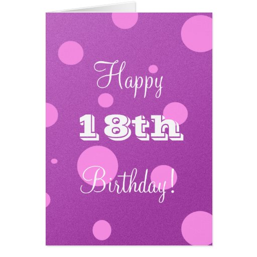 Happy 18th Birthday Card For Girl Images