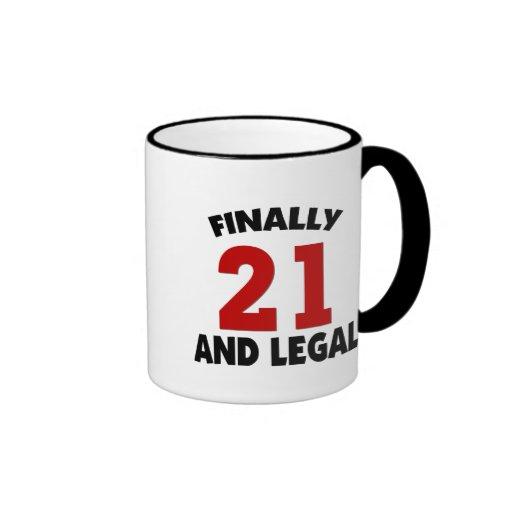Happy 21 Birthday Ringer Coffee Mug