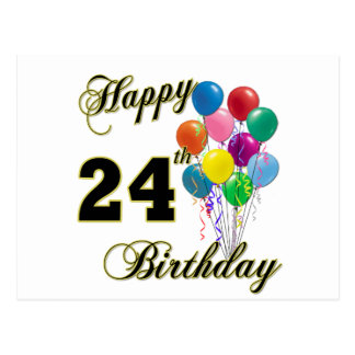 Happy 24th Birthday Cards | Zazzle