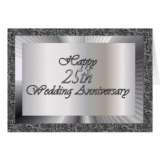 25th Wedding Anniversary Invitation Cards For Parents: Happy 25th Wedding Anniversary Card