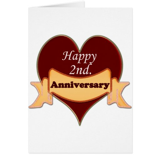 Happy 2nd. Anniversary Cards