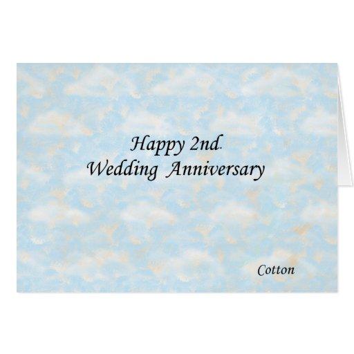 Happy 2nd. Wedding Anniversary Card