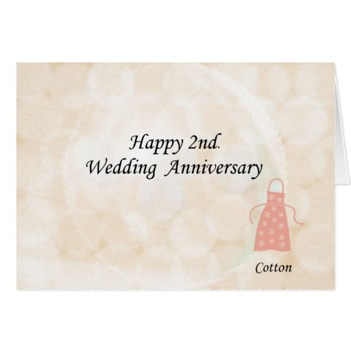 Happy 2nd. Wedding Anniversary Cards