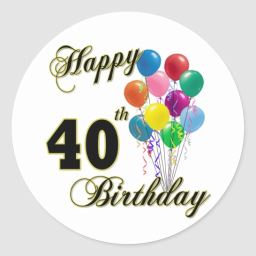 Happy 40th Birthday Gifts And Birthday Apparel Classic