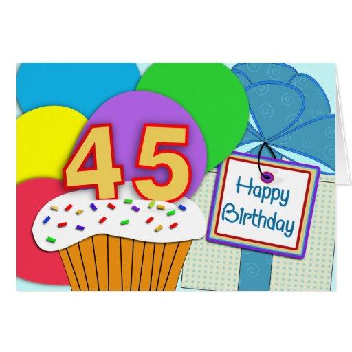 Happy 45th Birthday Card | Zazzle