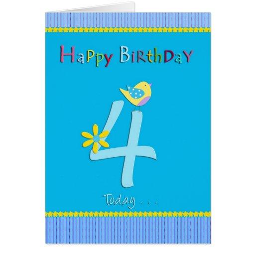Happy 4th Birthday Boy Cards