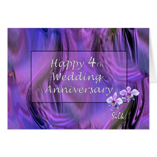 Almost One Year Anniversary Quotes: Happy 4th. Wedding Anniversary Card
