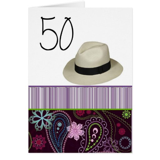 Happy 50th Birthday For Him Greeting Card