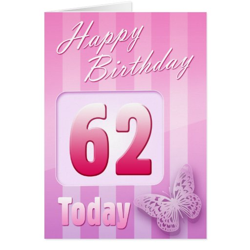 Happy 62 Birthday Card 62nd Grand Mother Great Aunt Mum