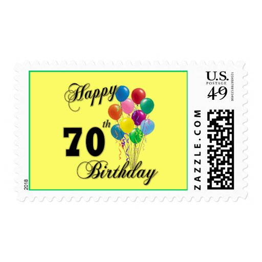Happy 70th Birthday Gifts And Apparel Postage