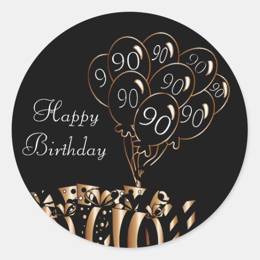 Happy 90th Birthday Classic Round Sticker Zazzle