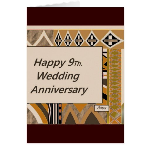 9th Anniversary Pottery For Wedding: Happy 9Th. Wedding Anniversary Pottery Card