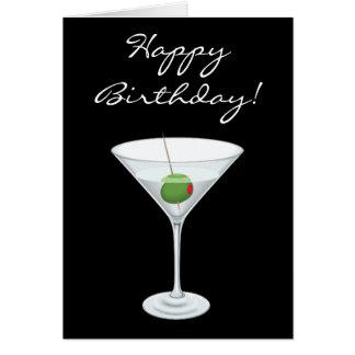 Martini Birthday Greeting Cards | Zazzle