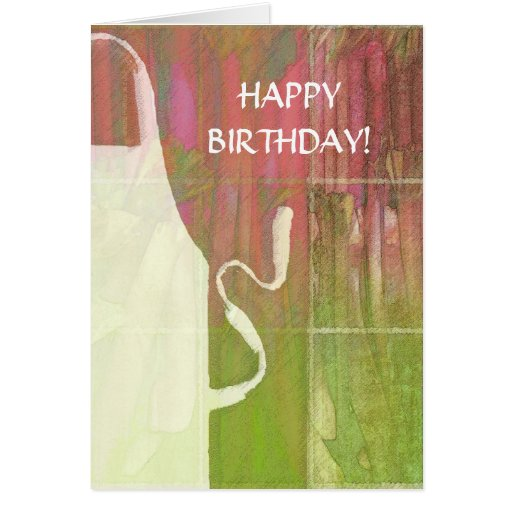 Happy Birthday Apron & Rhubarb Card