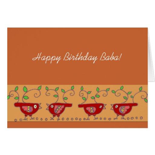 happy birthday baba ukrainian birdies cards  zazzle