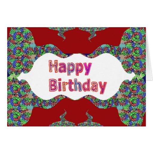 Happy Birthday- Beautiful Inside Print Text Script Card